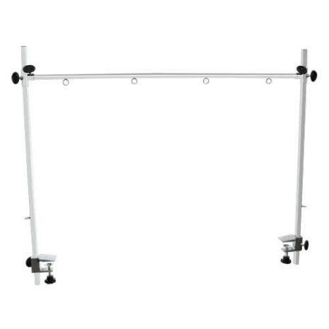 Braccio doppio in acciaio per tavoli da toelettatura
