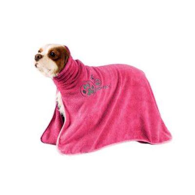 Telo da asciugatura in microfibra rosa mis. S