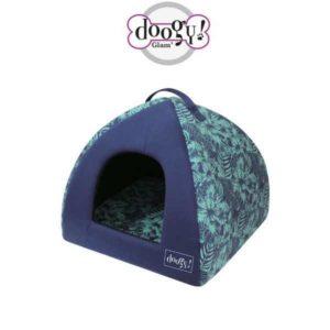 Cuccia per cani e gatti pagoda linea Jungle Bleu