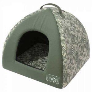 Cuccia per cani e gatti pagoda linea Jungle Kaki