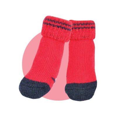 Calzini linea Puppia colore rosso