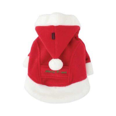 Cappotto per cani colore rosso con cappuccio